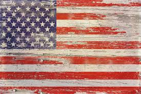 Loon Peak American Flag Distressed I Painting Print on Wrapped