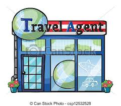 A Travel Agent Office Vector