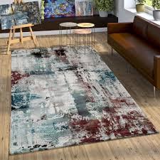 teppich leinwand optik abstraktes design gemälde