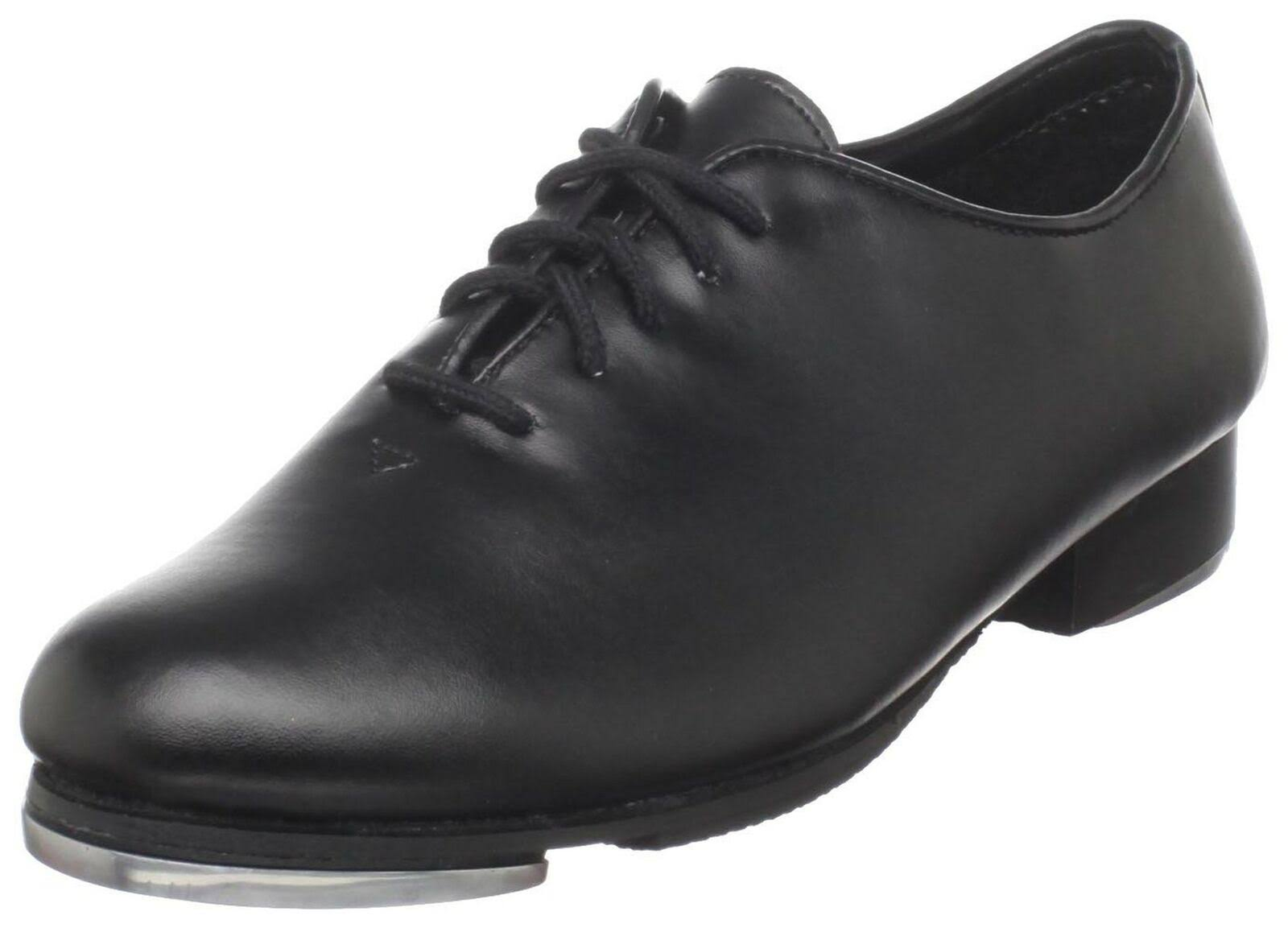 Dance Class Black Leather-Like Upper Lace Up Jazz Tap Oxford Shoes 5.5