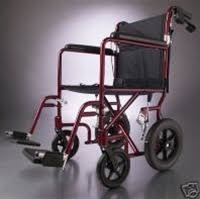 Medline Transport Chair Instructions by Medline Deluxe Transport Wheelchair With 12