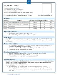 Resume Format For Bca Freshers Best Ideas On