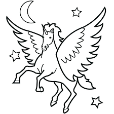Shaymin Coloring Pages Printable Unicorn With Wings And