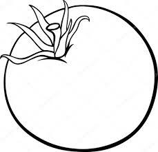 Caricature De Légumes Tomate Pour Cahier De Coloriage Image