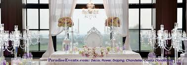 Wedding Decor Vancouver Swaneset Draping Chandelier Crytal