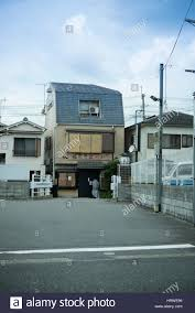 100 Small House Japan Small House With Traditional Curtains Stock Photo