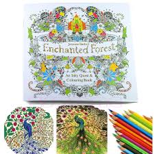 An Inky Enchanted Forest Treasure Hunt And Coloring Book By Johanna Basford
