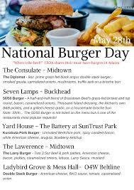 Seven Lamps Atlanta Brunch by May 28th Is National Hamburger Day Concierge Services Of Atlanta