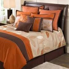 Brown and orange forter set Blankets Pinterest