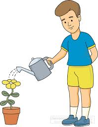 Gardening Clipart watering flower with water can 2 Classroom