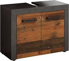 trendteam smart living badezimmer waschbeckenunterschrank unterschrank indy 72 x 56 x 34 cm in front wood korpus und absetzung matera mit viel