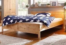 home affaire massivholzbett indra mit dekorativen fräsungen in 2 breiten 140 200 und 180 200 cm kaufen otto