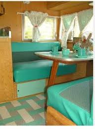 Lucy The Starlite Classic Campground All Vintage Trailers For Rent In Colorado Love These Colors Bathroom Mixed With Light Grey Towels And