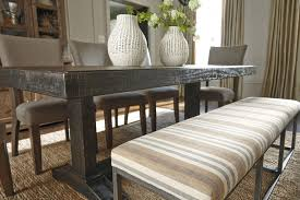 Furniture Attractive And Modern Upholstered Dining Bench