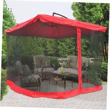 Mosquito Netting For Patio Umbrella Black by Square Offset Patio Umbrella With Netting Patio Outdoor Decoration