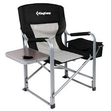 KingCamp Heavy Duty Steel Camping Folding Director Chair With Cooler Bag  And Side Table 8 Best Heavy Duty Camping Chairs Reviewed In Detail Nov 2019 Professional Make Up Chair Directors Makeup Model 68xltt Tall Directors Chair Alpha Camp Folding Oversized Natural Instinct Platinum Director With Pocket Filmcraft Pro Series 30 Black With Canvas For Easy Activity Green Table Deluxe Deck Chairheavy High Back Side By Pacific Imports For A Person 5 Heavyduty Options Compact C 28 Images New Outdoor