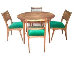 Superb Modern Dining Room Tables Set Heritage Chairs New Mid Century