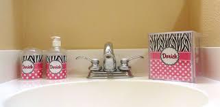 Zebra Print Bathroom Decor by On Their Way Out U2013 Personalized Bathroom Accessories U2013 Rnk Innovations