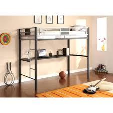 Ikea Full Size Loft Bed by Loft Beds Twin Size Loft Bed Frame Silver Screen Metal Black