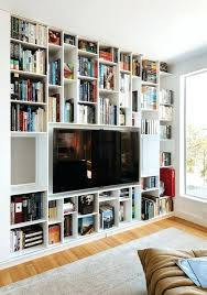 Space Saving Bookcase In Wall Bookshelves Built Plans Bookshelf With