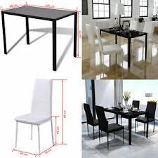 details about esstisch essststühle set tisch mit 4 stühle esszimmer küche sitzstuhl glastisch