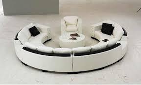 rundsofa runde big eck sofa leder garnitur wohnlandschaft rund blance
