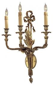 gold 3 light candle style wall sconce wall with
