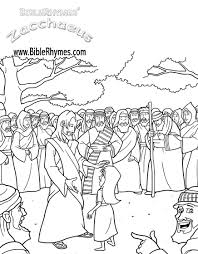 Zacchaeus Jesus Teaching BibleRhymes