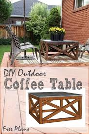 Diy Plans Garden Table by Best 25 Outdoor Coffee Tables Ideas On Pinterest Industrial