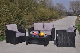Yakoe® 4 Seater Black Rattan Sofa Garden Furniture Patio Set ... Shop Aleko Wicker Patio Rattan Outdoor Garden Fniture Set Of 3 Pcs 4pc Sofa Conservatory Sunnydaze Tramore 4piece Gray Best Rattan Garden Fniture And Where To Buy It The Telegraph Akando Outdoor Table Chair Hog Giantex Chat Seat Loveseat Table Chairs Costway 4 Pc Lawn Weston Modern Beige Upholstered Grey Lounge Chair Riverdale 2 Bistro With High Webetop Setoutdoor Milano 4pc Setting Coffee