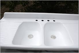 Youngstown Kitchen Double Sink by Cast Iron Kitchen Sink With Drainboard I Applied A Generous