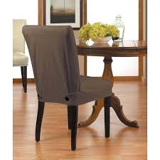 Dining Chair Short Slipcovers Twill Relaxed Fit Slipcover With Buttons Room