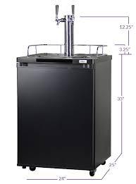 Perlick Faucets Worth It by Kegco K209b 2 2 Faucet Full Size Kegerators Matte Black 2 Tap
