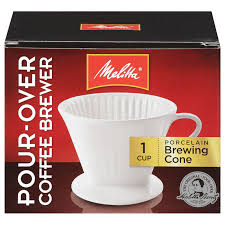 Melitta Porcelain Pour Over Coffee Brewer Cone