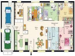 plan maison plain pied 6 chambres chambre plan maison 4 chambres fantastique plan maison 4 chambres