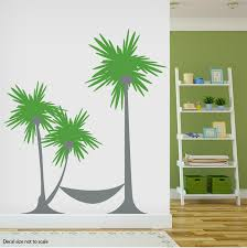 Palm Tree Hammock Wall Decal Sticker