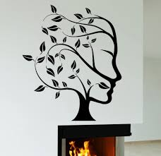 Wall Mural Decals Nature by Aliexpress Com Buy Abstract Nature Tree Woman Face Wall Sticker
