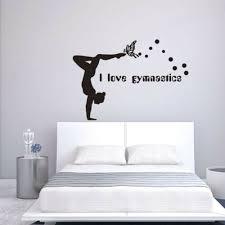 wandtattoos wandbilder tänzerin ich liebe gymnastik
