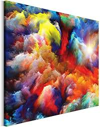 revolio 40x30 cm leinwandbild wandbilder wohnzimmer modern kunstdruck design wanddekoration deko bild auf leinwand bilder 1 teilig bunt abstraktion
