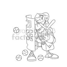 Royalty Free Police Blocking Protests Black And White Image 394305 Vector Clip Art