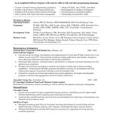 Resume Of Sql Developer Best Python Resume Pretty Python Resume