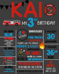 100 Fire Truck Song Theme Birthday Chalkboard Sign Man Printable Etsy
