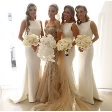 Ivory Bridesmaid GownPretty Prom DressesMermaid GownSimple DressBeautiful Dresses2016 New Style Gowns