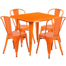 Flash Furniture Orange Metal Indoor Outdoor Table Set With 4 Stack ... Saddle Leather Ding Chair Garza Marfa Jupiter White And Orange Plastic Modern Chairs Set Of 2 By Black Metal Cafe Fniture Buy Eiffel Inspired White Orange With Legs Grand Tuscany Total Sizes Wd325xh36 Patio Urban Kitchen Shop Asbury With Chromed Velvet Vivian Of World Market Industrial Design Slat Back Products Flash Indoor Outdoor Table 4 Stack