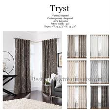 Moroccan Tile Curtain Panels by Tryst Curtain Panel In A Quatrefoil Moroccan Tile Design