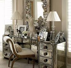 Elegant Venetian Mirrored Bedroom Furniture Chest Glass Home