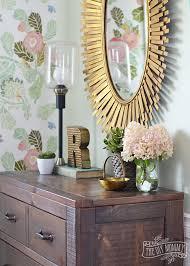 Rustic Glam Girls Bedroom In Dark Wood Gold Mint Pink