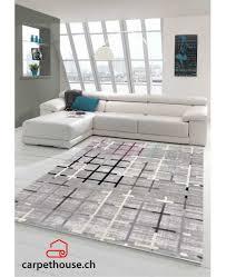 teppich flachflor modern wohnzimmer patchwork design grau