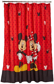 Mickey And Minnie Mouse Bath Decor by Red Disney Shower Curtain Full Of Mickey U0026 Minnie Love