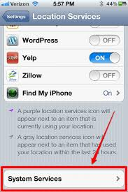 """iPhone Location Services """"Stuck """" alexking"""
